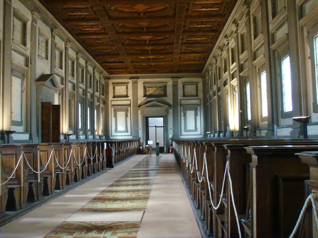 Reading room of the Laurentian Library  - Wikipedia