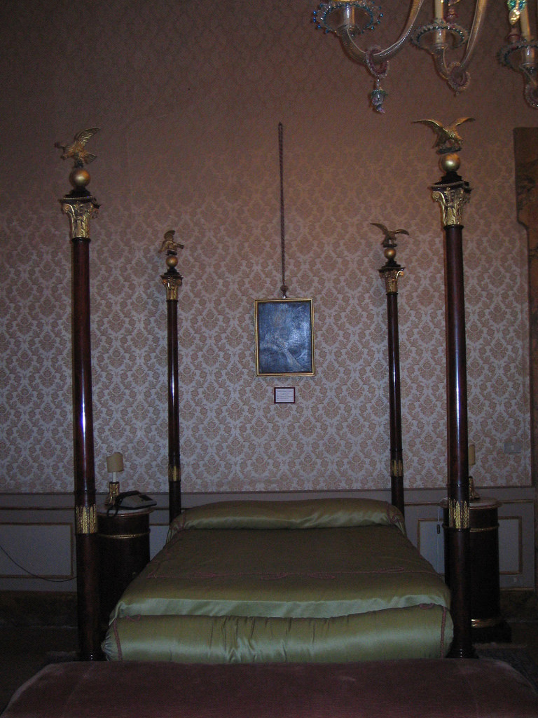 Napoleon's bed in the Palazzo Caprara