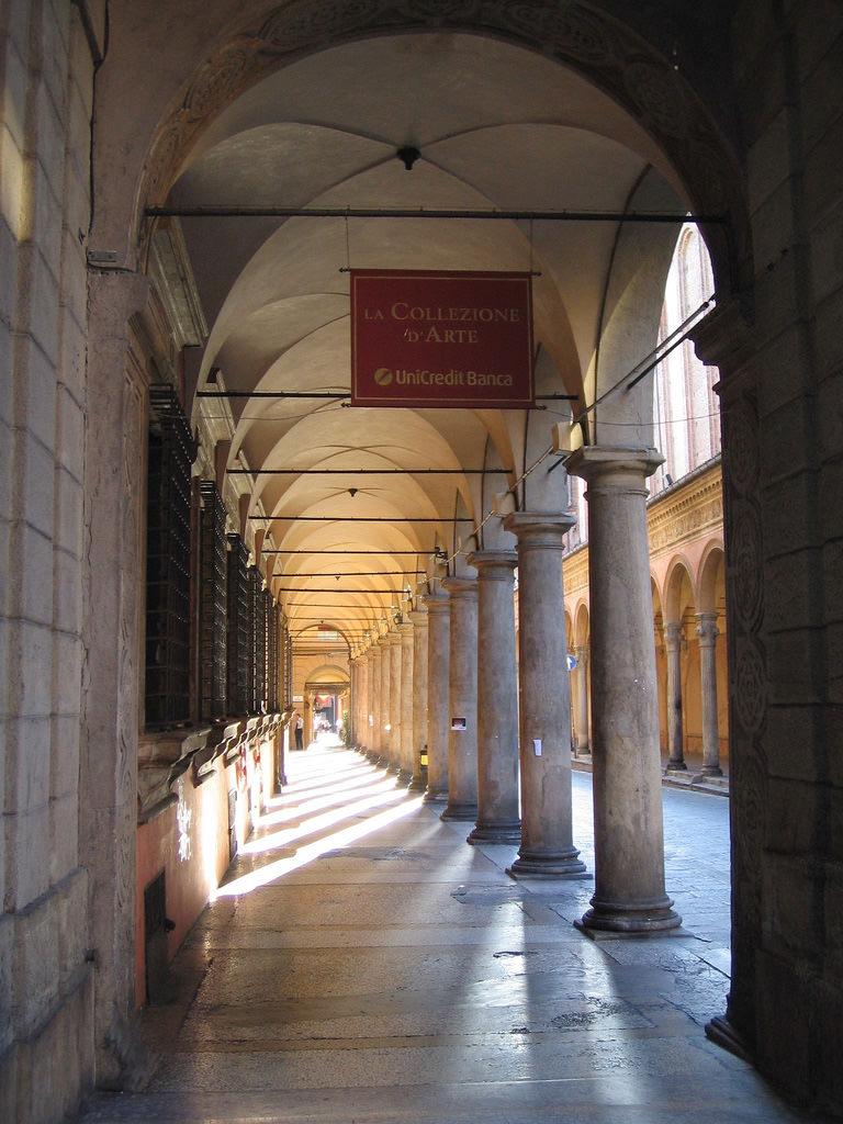 Bologna's famous porticoes