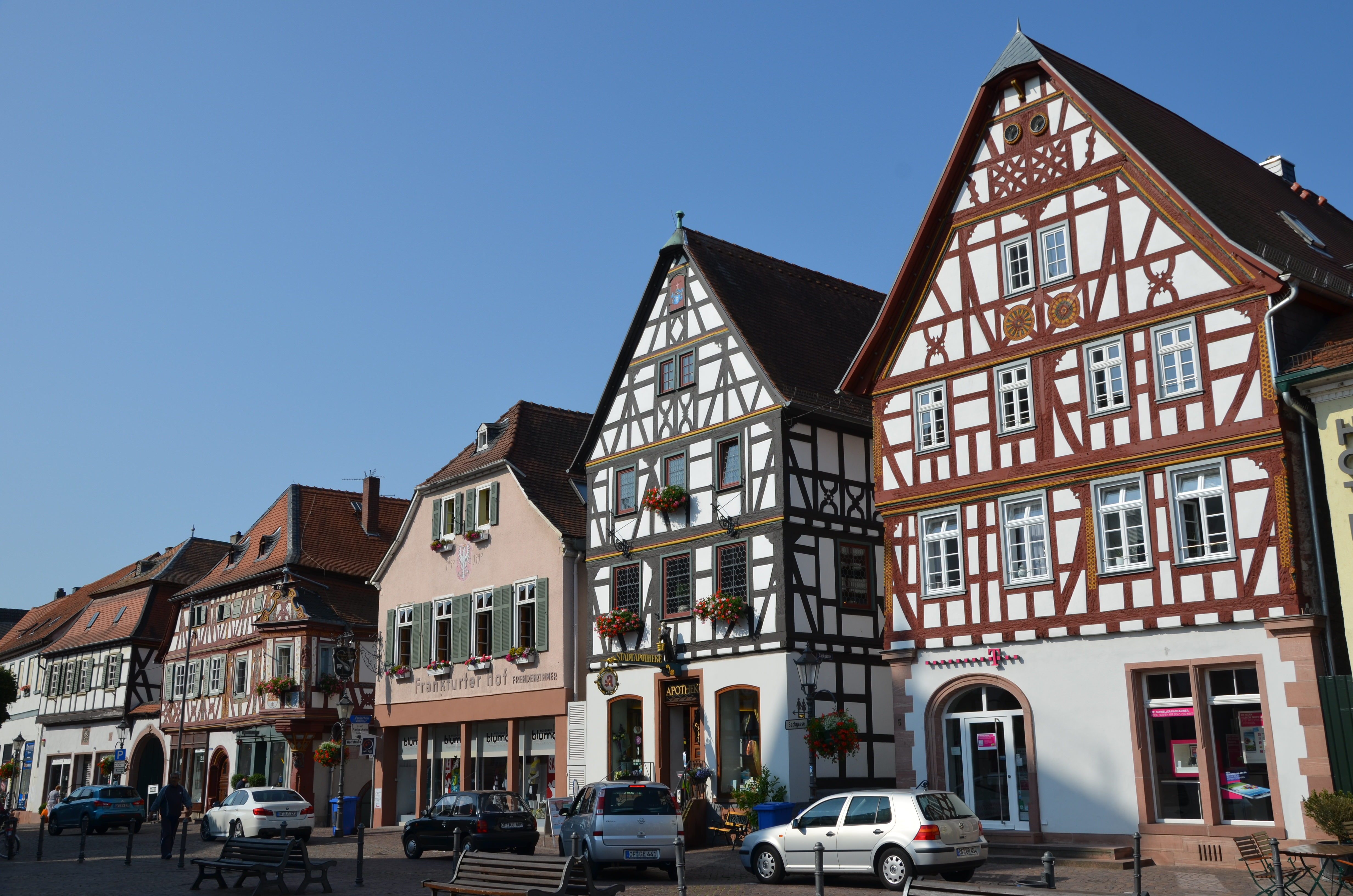 Beautiful half-timbered buildings enhance the town of Seligenstadt