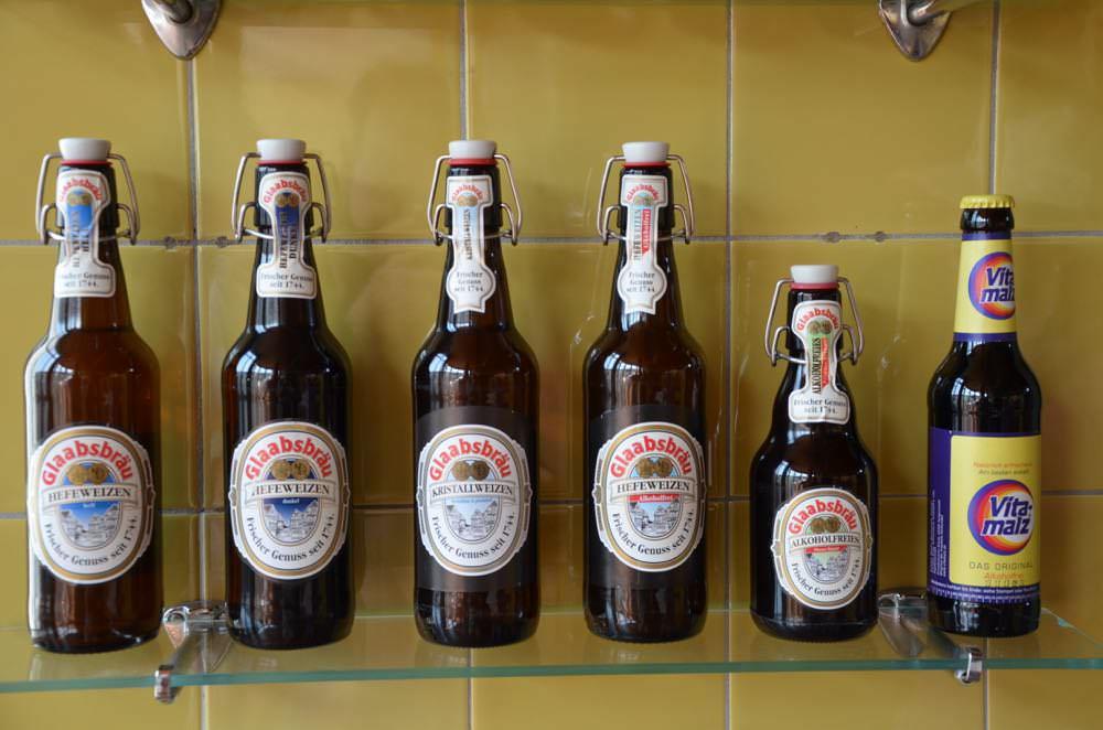 Glaabsbrau's twelve different beers and ales