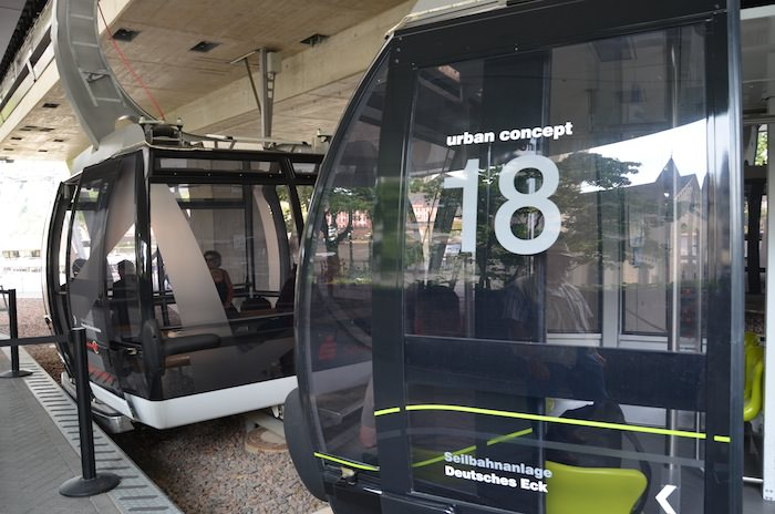 The Gleaming Cable Cars that Take Visitors Over the Rhine River