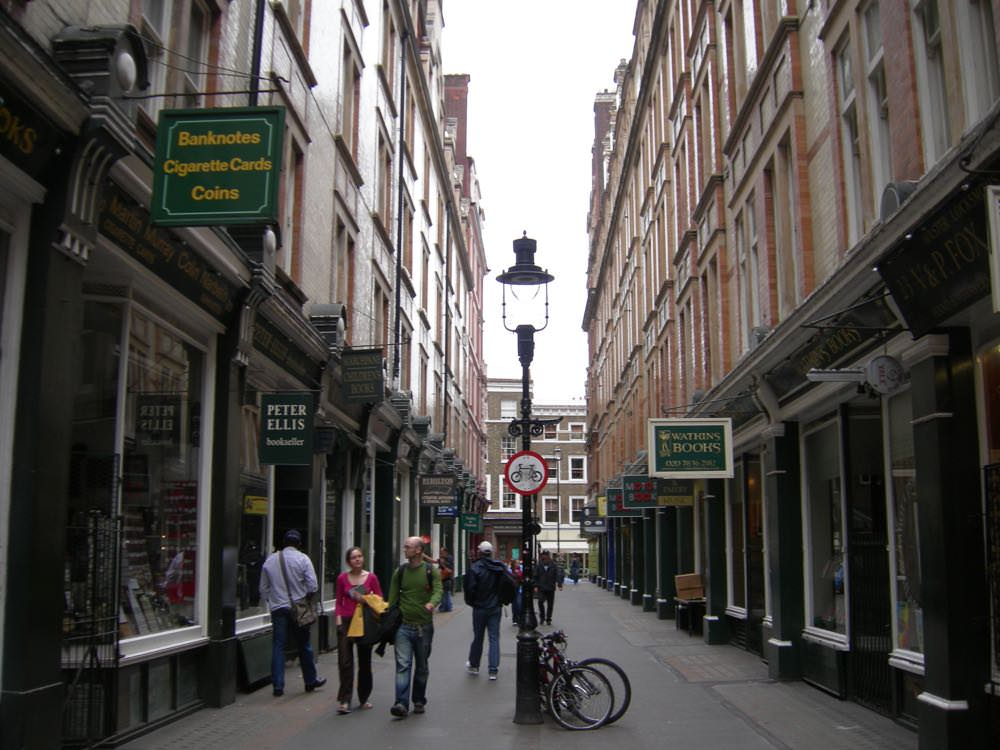 Book tour of london along Cecil Court