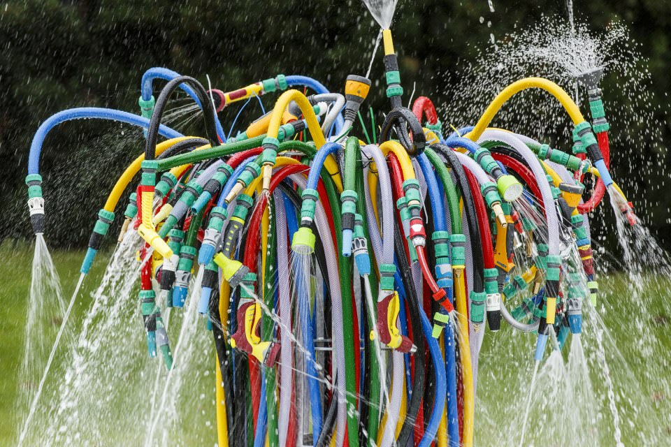 The Bertrand Lavier Fountain 2014 at the Serpentine Sackler Galleries