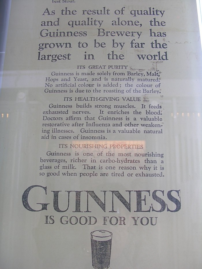 Guinness storehouse advertising memoribilia
