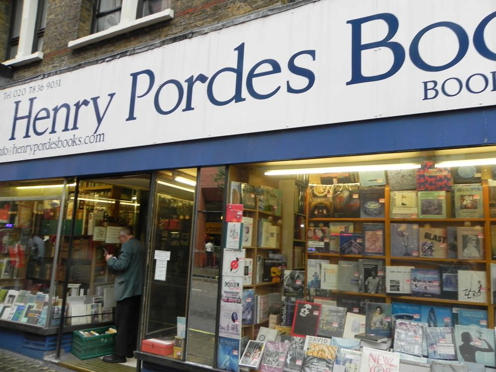 Henry Pordes Books on our book tour of london