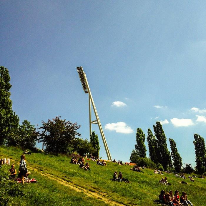 Mauer Park, Sunday, in Prenzlauer Berg