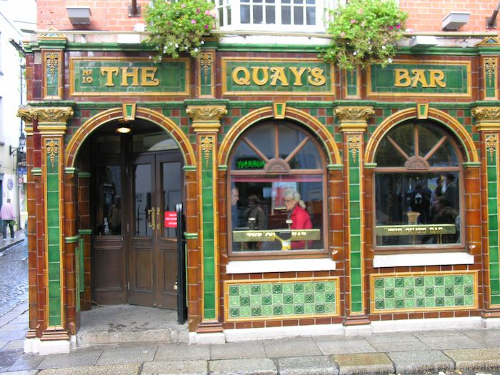 Stylish exterior of The Quays Bar