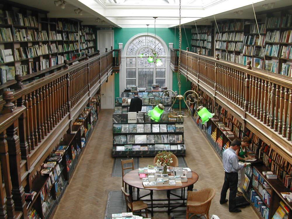 The mezzanine level in Daunt Books
