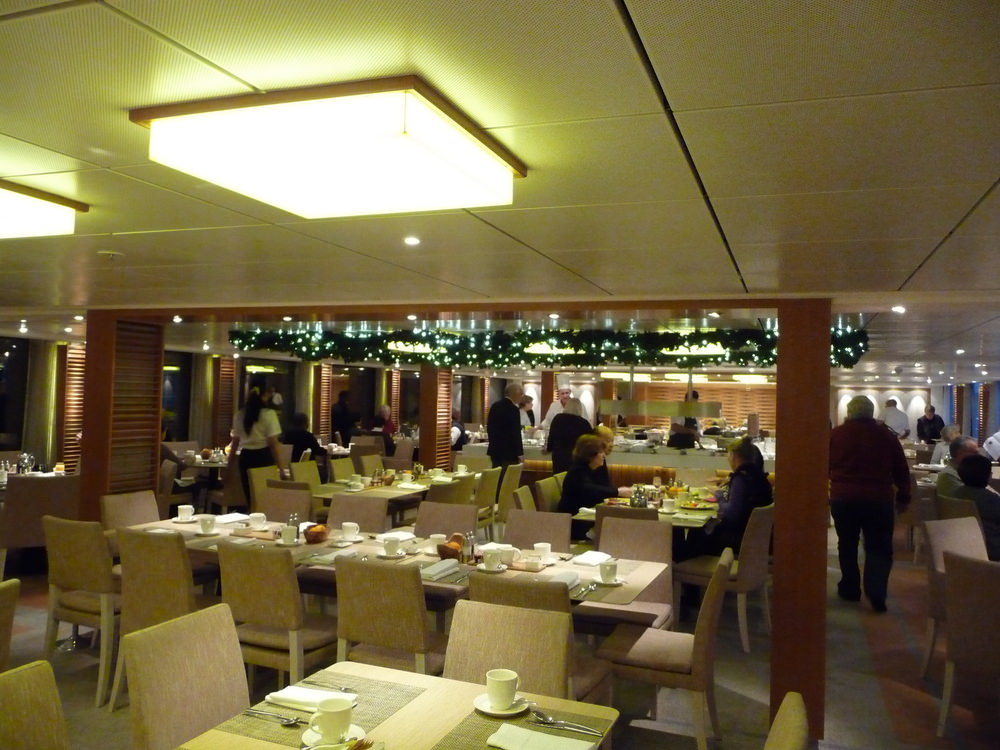 The dining room on the Viking Baldur on our christmas market cruise