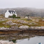 As the fog dispersed we saw a typical inlet of The Bays region on Harris's southeast coast.