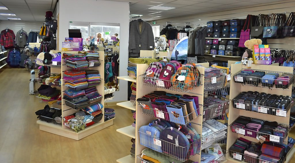 The main outlet for Harris Tweed is the Harris Tweed and Knitwear Shop in Tarbert. Courtesy: Harris Tweed and Knitwear