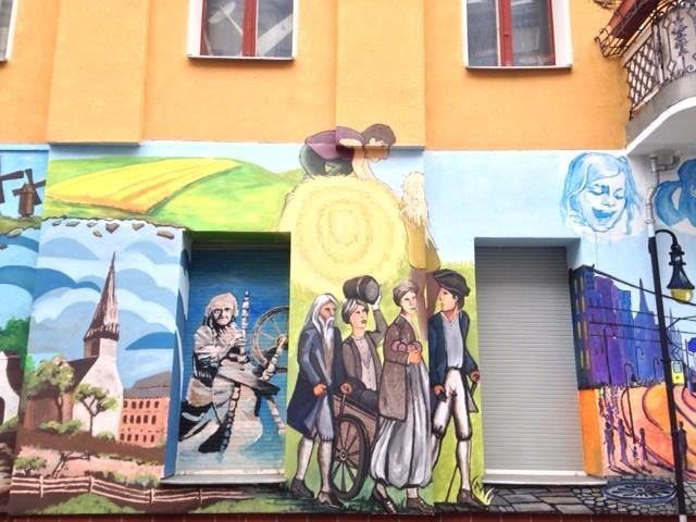 A Bohemian mural in Rixdorf