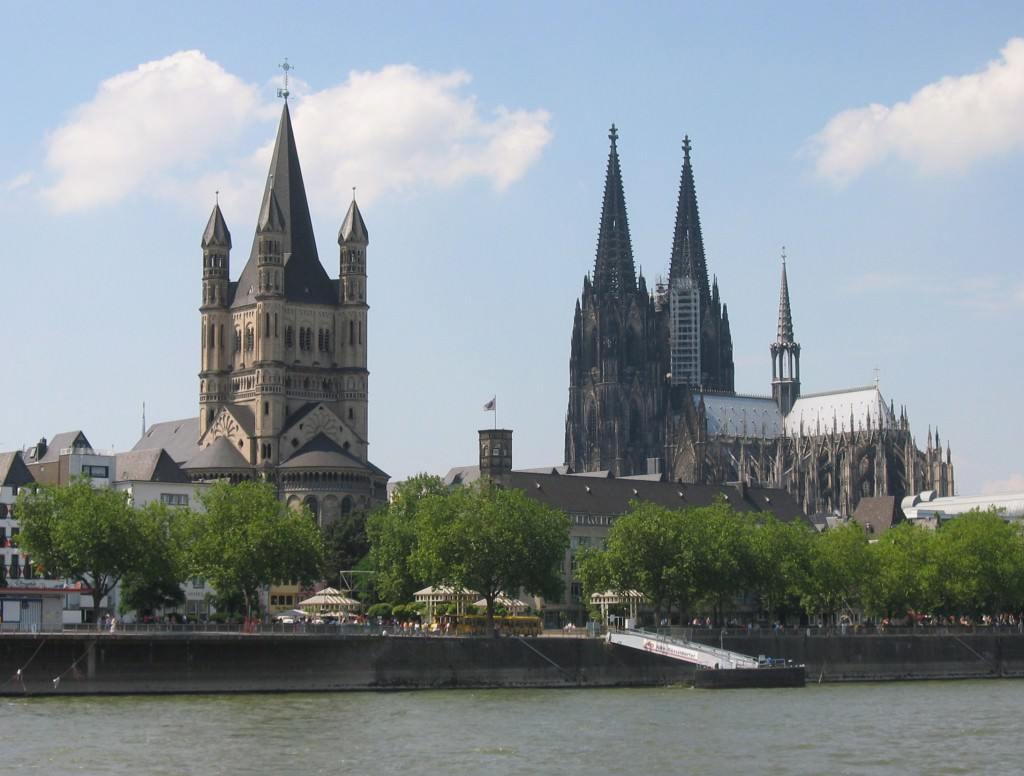 The Cologne skyline
