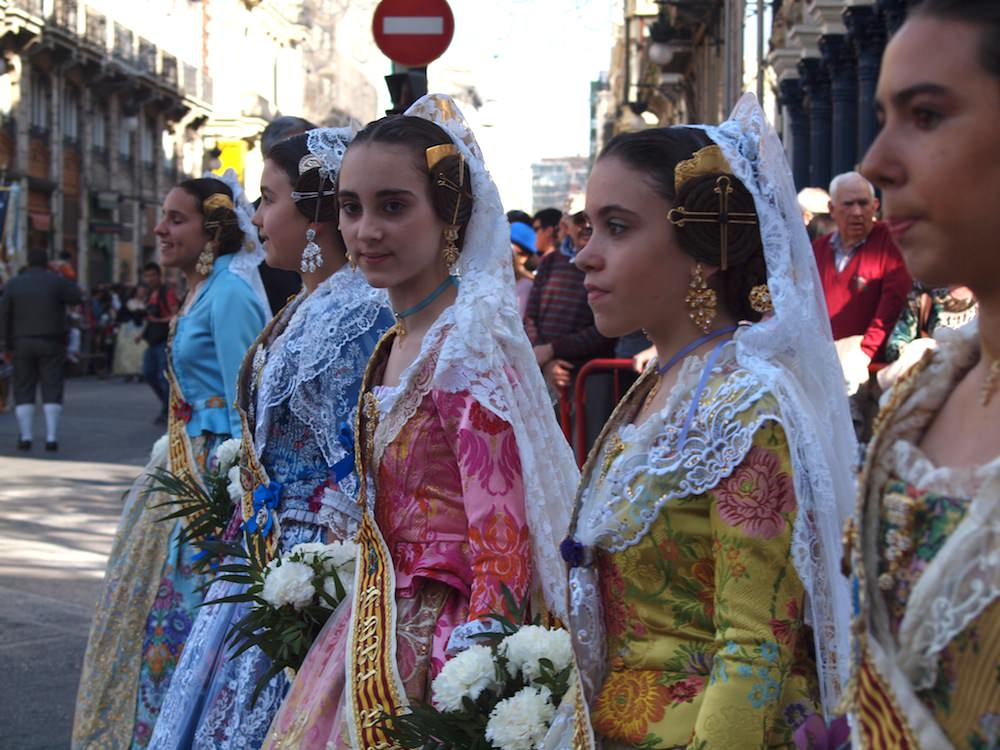 Women in traditional costumes