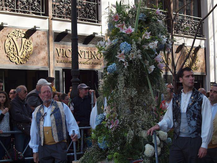 Flower offering at las fallas