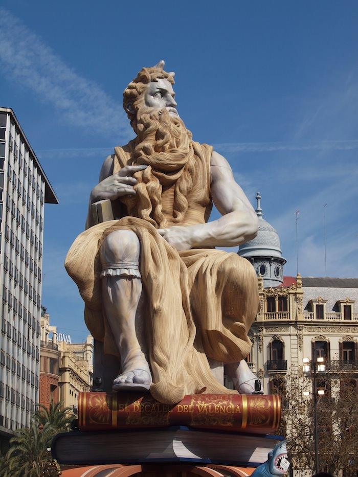The grandest Falla - in Plaza Ayuntamiento