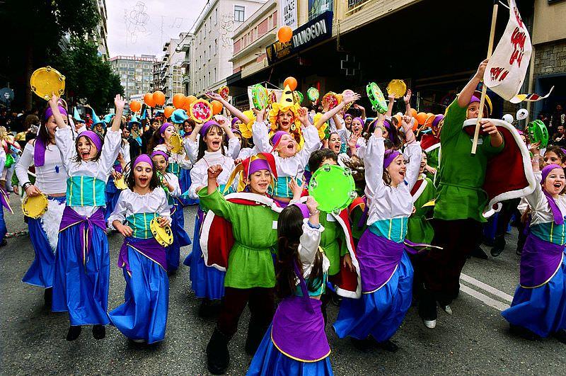 The Children enjoying Carnival in Greece