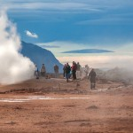 Hverarond is an area of intense geothermal activity east of Lake Myvatn bordered by the burnt orange slopes of Mount Námafjall on its western side. Many consider this is the best attraction in Iceland.