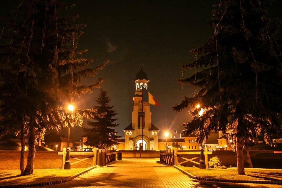 The Orthodox Church at night