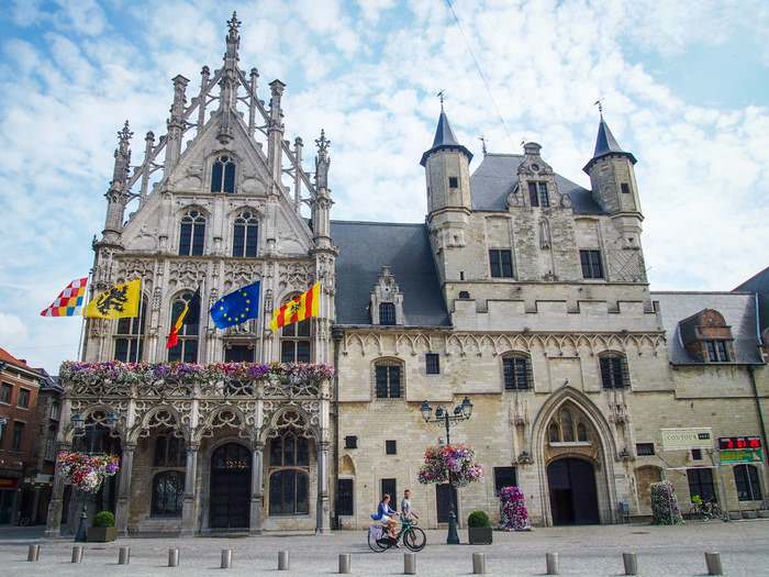 The Town Hall of Mechelen dates from the Middle Ages