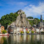 The Citadel of Dinant overlooks the Collegiate Church and the Meuse River