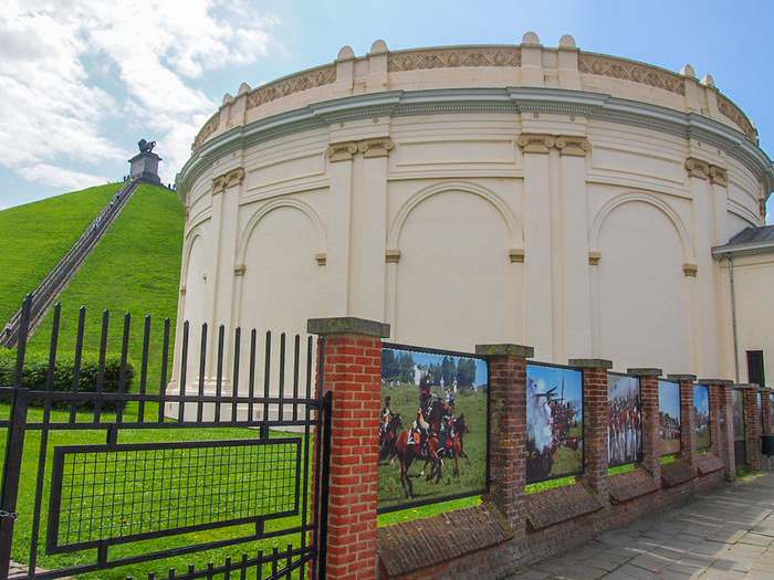 The Battle of Waterloo panorama is one of the site's main highlights