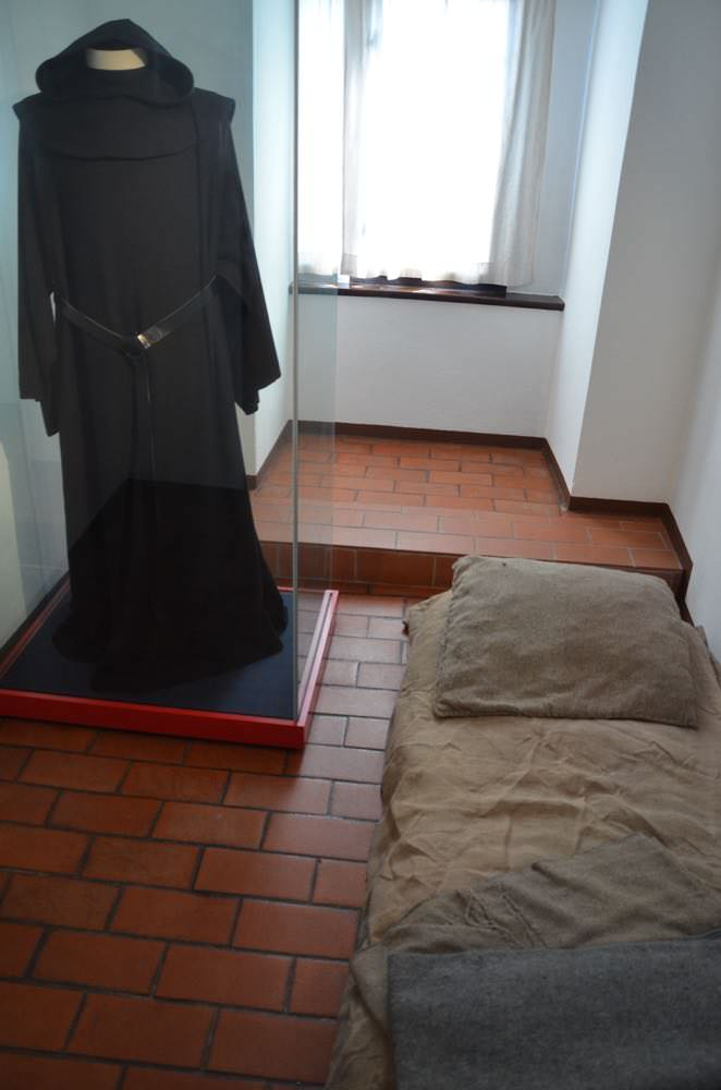 The cell where Martin Luther lived while in Erfurt