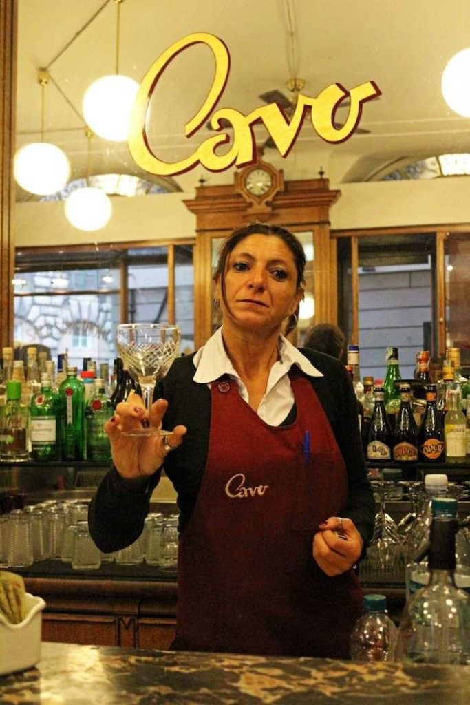 Waitress at Cavo Cafe