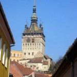clock tower in Sighisoara, Romania's