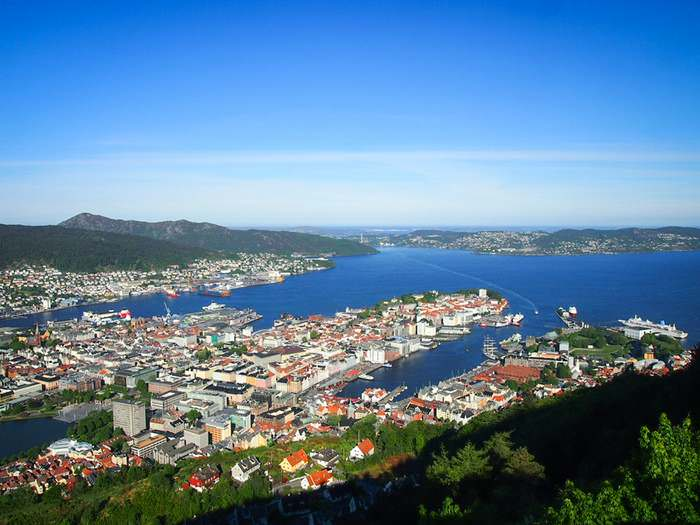 View of Bergen from one of the seven hills
