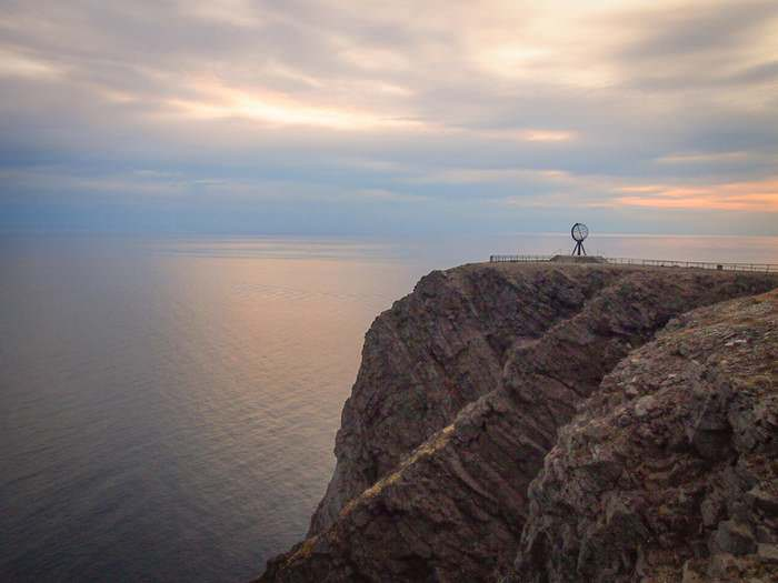 The North Cape overlooks the still Arctic Ocean