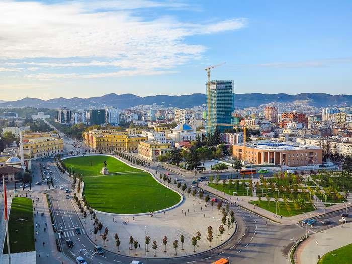 Tirana, Albania city scape