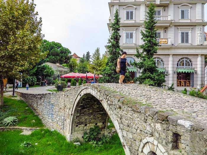 Tanners' Bridge in Tirana Albania