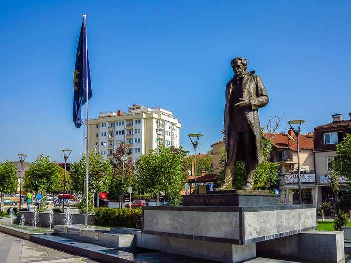 Past President Ibrahim Rugova statue