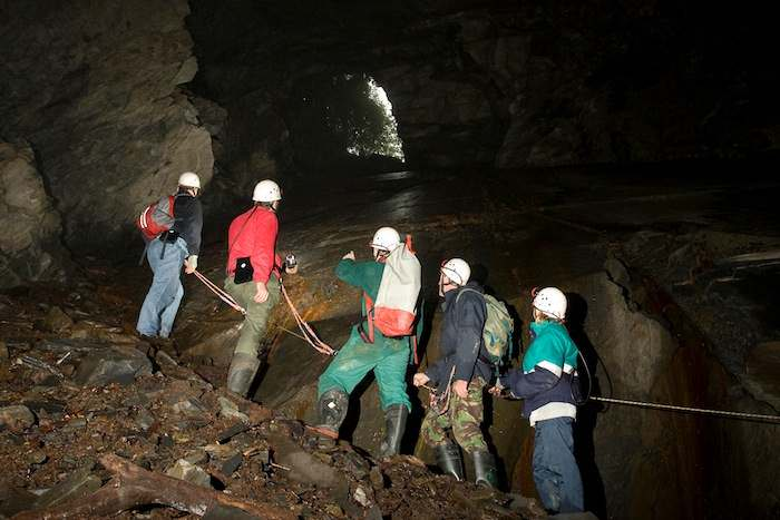 People on the Corris Mine Explorers tour