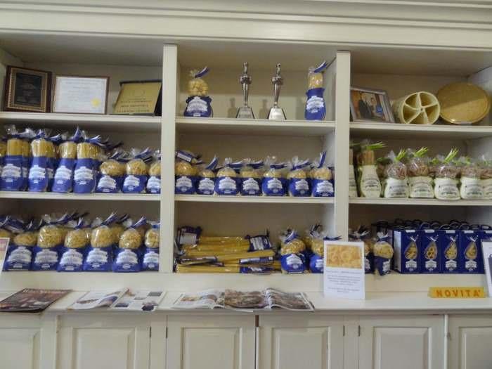 bags of pasta at Pastificio Bendetto Cavalieri-