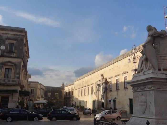 street scene in Maglie in southern Puglia