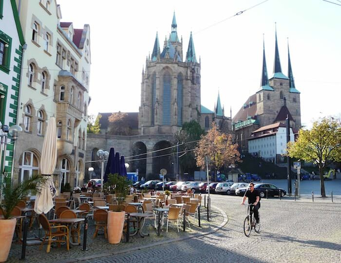 Dom Square in Erfurt, Germany