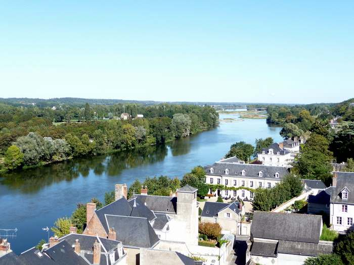 View of the Loire from Amboise Chateau