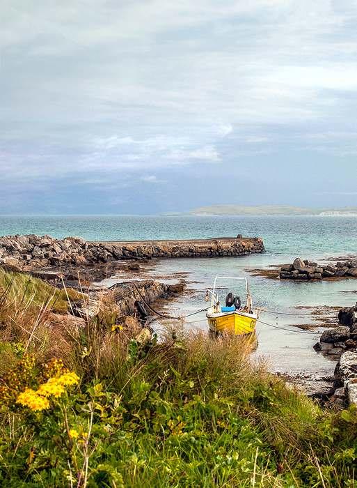 Eoligarry Harbor on The Isle of Barra, Scotland
