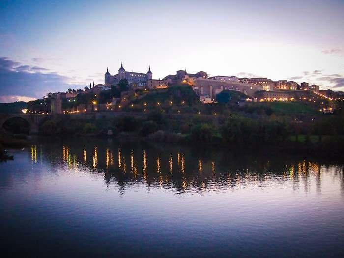 Toledo, Spain as seen at dusk