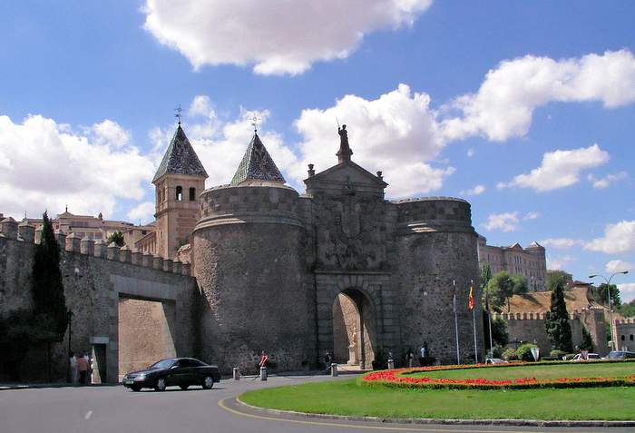 The Portal into the city of Toledo is ornate and massive