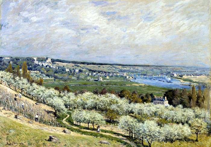 Alfred Sisley: The Terrace at Saint-Germain in Spring