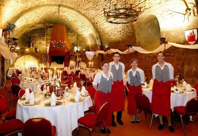 banquet room at the Castle Kauzenburg
