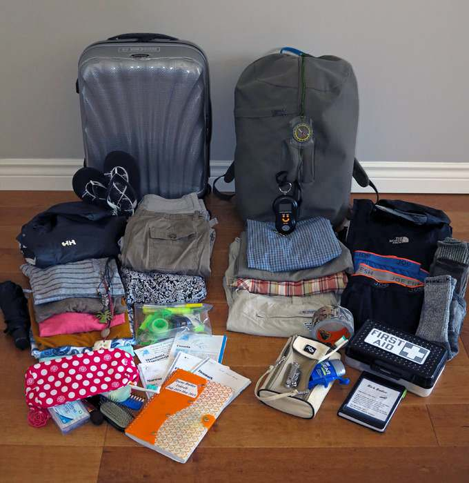 pack in carry-ons for easy travel