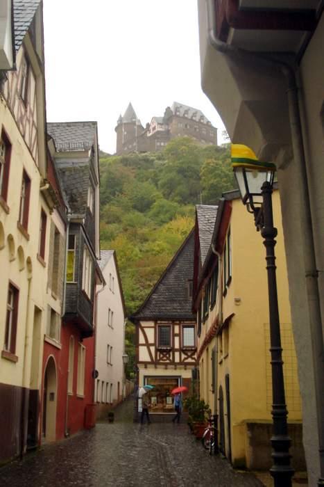 Street scene in Bacharach, Germany