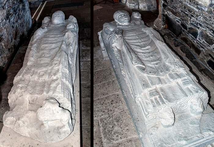 Abbots' effigies at Iona Abbey
