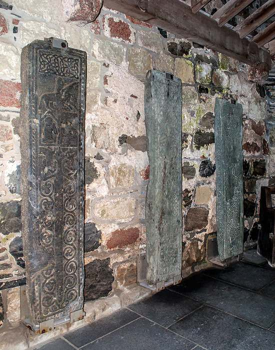 grave slabs from the Iona Abbey