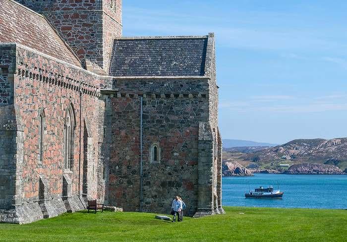 The Iona abbey's stones